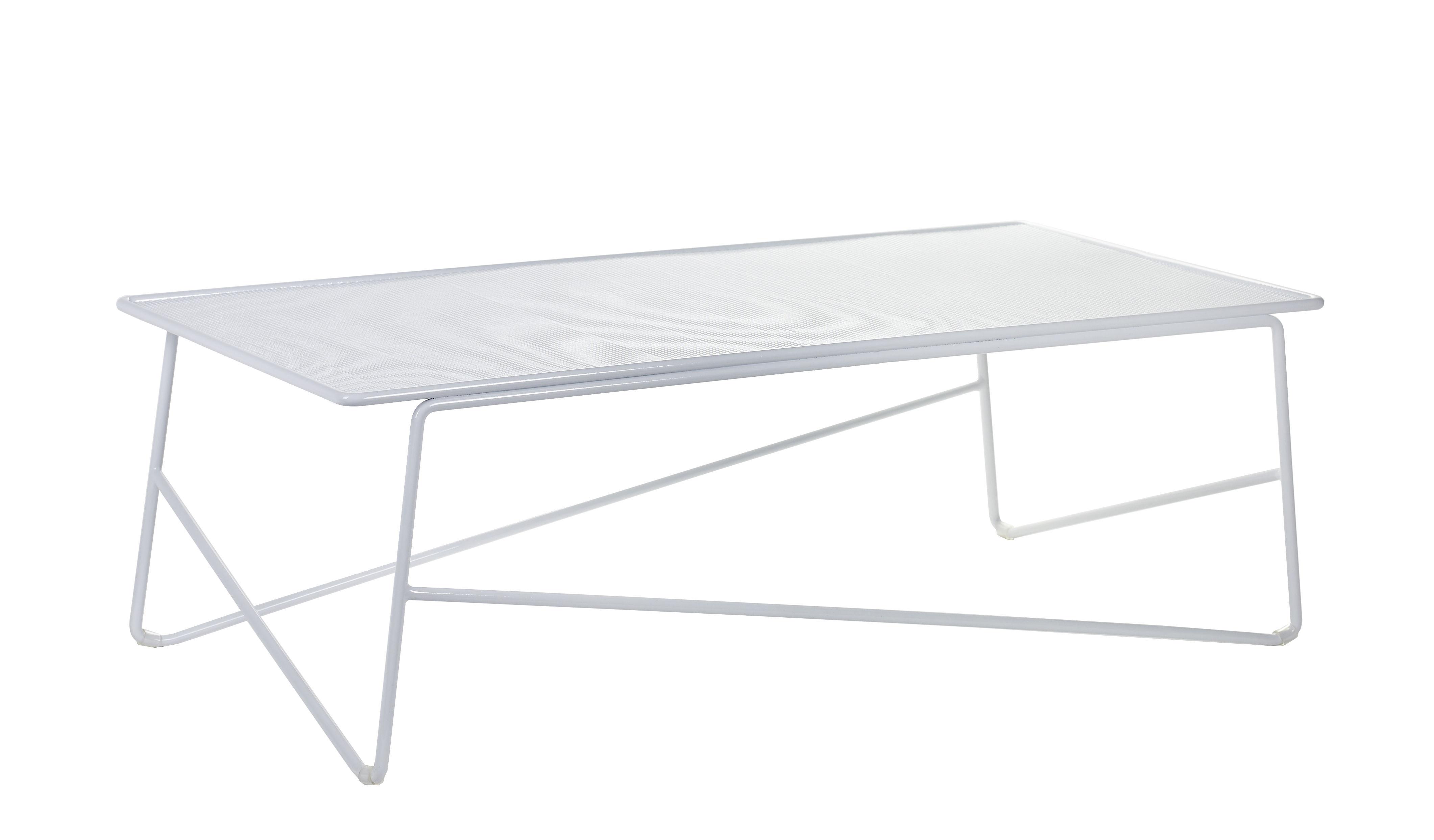 Mobilier - Tables basses - Table basse Fish & Fish / Large - 90 x 45 cm - Serax - Blanc - Aluminium laqué