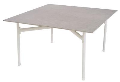 Table basse Kira / Plateau grès émaillé - Emu blanc en céramique
