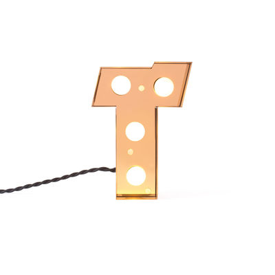 Decoration - Children's Home Accessories - Caractère Table lamp - / Wall light - Letter T - H 20 cm by Seletti - T - Lacquered metal