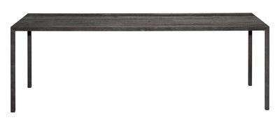 Table rectangulaire Tense Material / 90 x 200 cm - Chêne bruni - MDF Italia noir en bois
