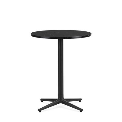 Table ronde Allez 4L OUTDOOR / Ø 60 cm - Marbre - Normann Copenhagen noir en pierre