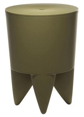 Mobilier - Mobilier Ados - Tabouret New Bubu 1er / Coffre - Plastique - XO - Kaki - Polypropylène