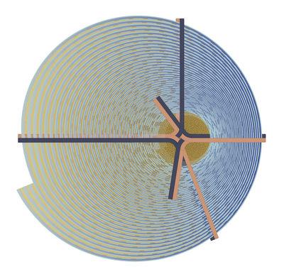 Déco - Tapis - Tapis Bow - Shanghai / Ø 250 cm - Moooi Carpets - Shanghai / Bleu - Polyamide