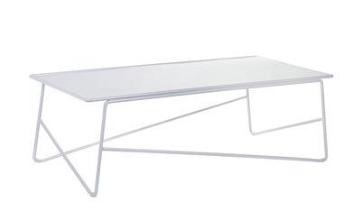 Arredamento - Tavolini  - Tavolino Fish & Fish - / Large - 90 x 45 cm di Serax - Bianco - Alluminio laccato