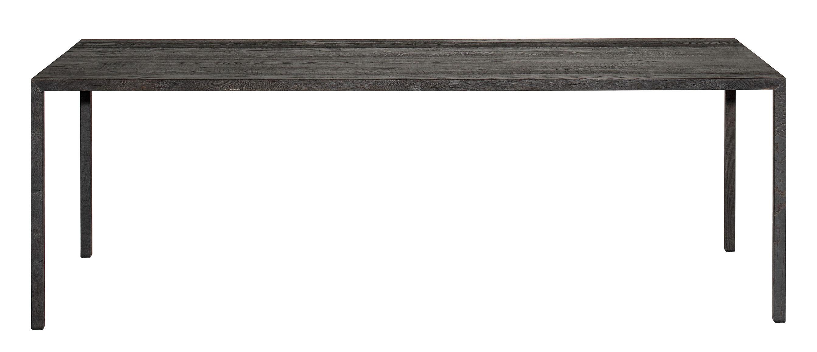 Arredamento - Tavoli - Tavolo rettangolare Tense Material - / 90 x 200 cm - rovere scurito di MDF Italia - Rovere brunito nero - Pannello composito, Placage chêne massif bruni