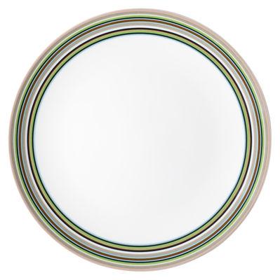 Tischkultur - Teller - Origo Teller Ø 26 cm - Iittala - Beige Streifen - Porzellan