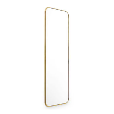 Decoration - Mirrors - Sillon SH7 Wall mirror - / 60 x H 190 cm by &tradition - Brass - Brass plated steel, Glass