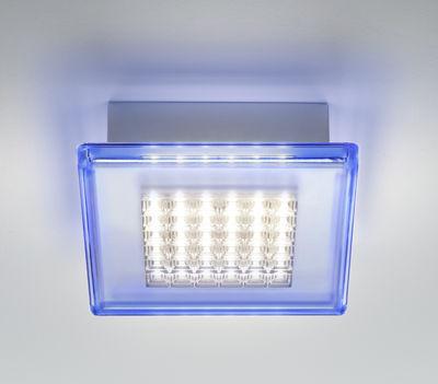 Applique Quadriled LED / Plafonnier - 16 x 16 cm - Fabbian bleu clair en matière plastique