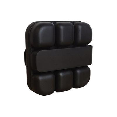 Arts de la table - Bar, vin, apéritif - Bac à glaçons Cube / Avec pince - Silicone souple - Extarction facile - Cookut - Noir - Polyropylène, Silicone alimentaire