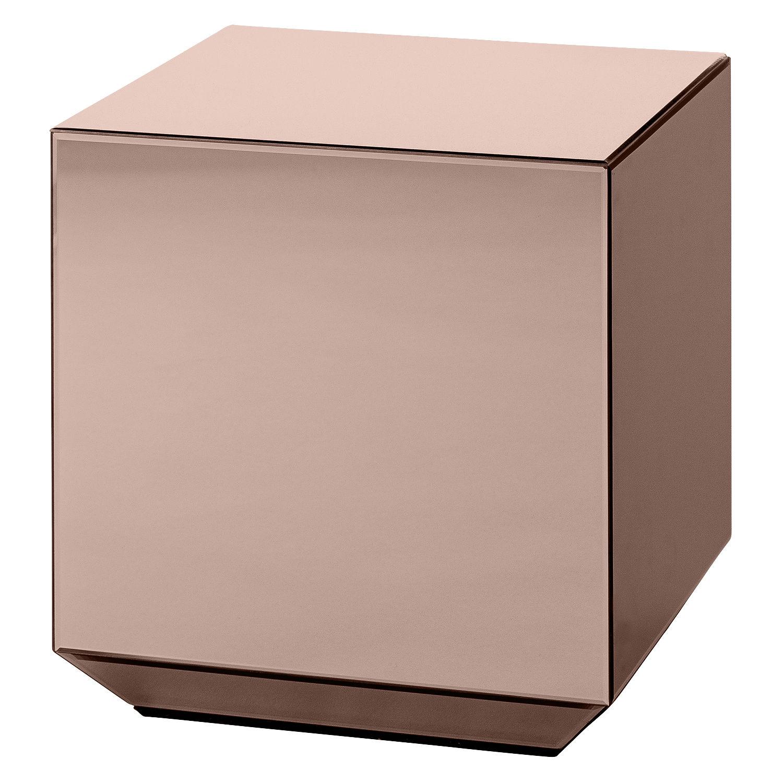 Möbel - Couchtische - Speculum Beistelltisch / Spiegel - 38 x 38 x H 40 cm - AYTM - Spiegeloberfläche, rosa - Glas