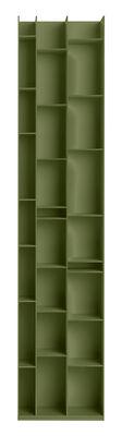 Bibliothèque Random 3C / L 46 x H 217 cm - MDF Italia olive foncé en bois