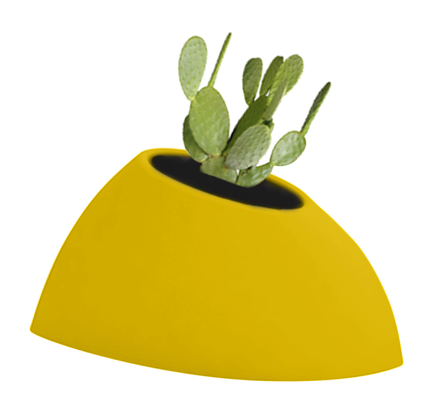 Outdoor - Töpfe und Pflanzen - Tao S Blumentopf H 36 cm - MyYour - Gelb - rotationsgeformtes Polyäthylen