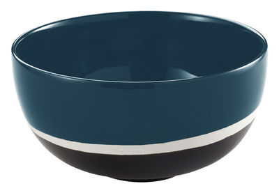Bol Sicilia / Ø 19 cm - Maison Sarah Lavoine blanc,noir,bleu sarah en céramique