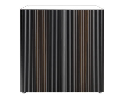 Buffet Carlos / 2 portes - L 96 x H 98 cm - Horm blanc/multicolore en bois