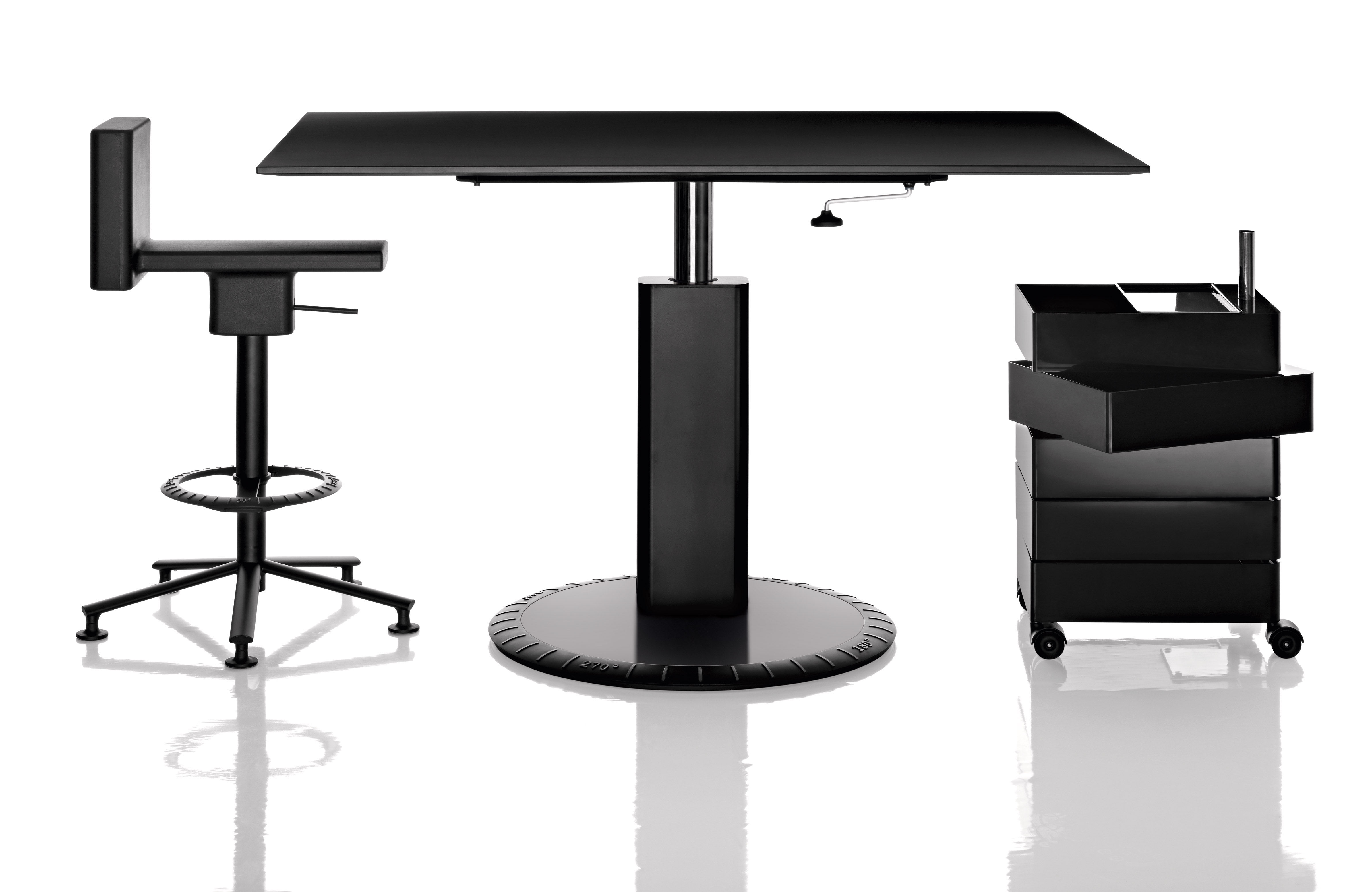caisson roulettes 360 magis gris brillant l 32 x h. Black Bedroom Furniture Sets. Home Design Ideas