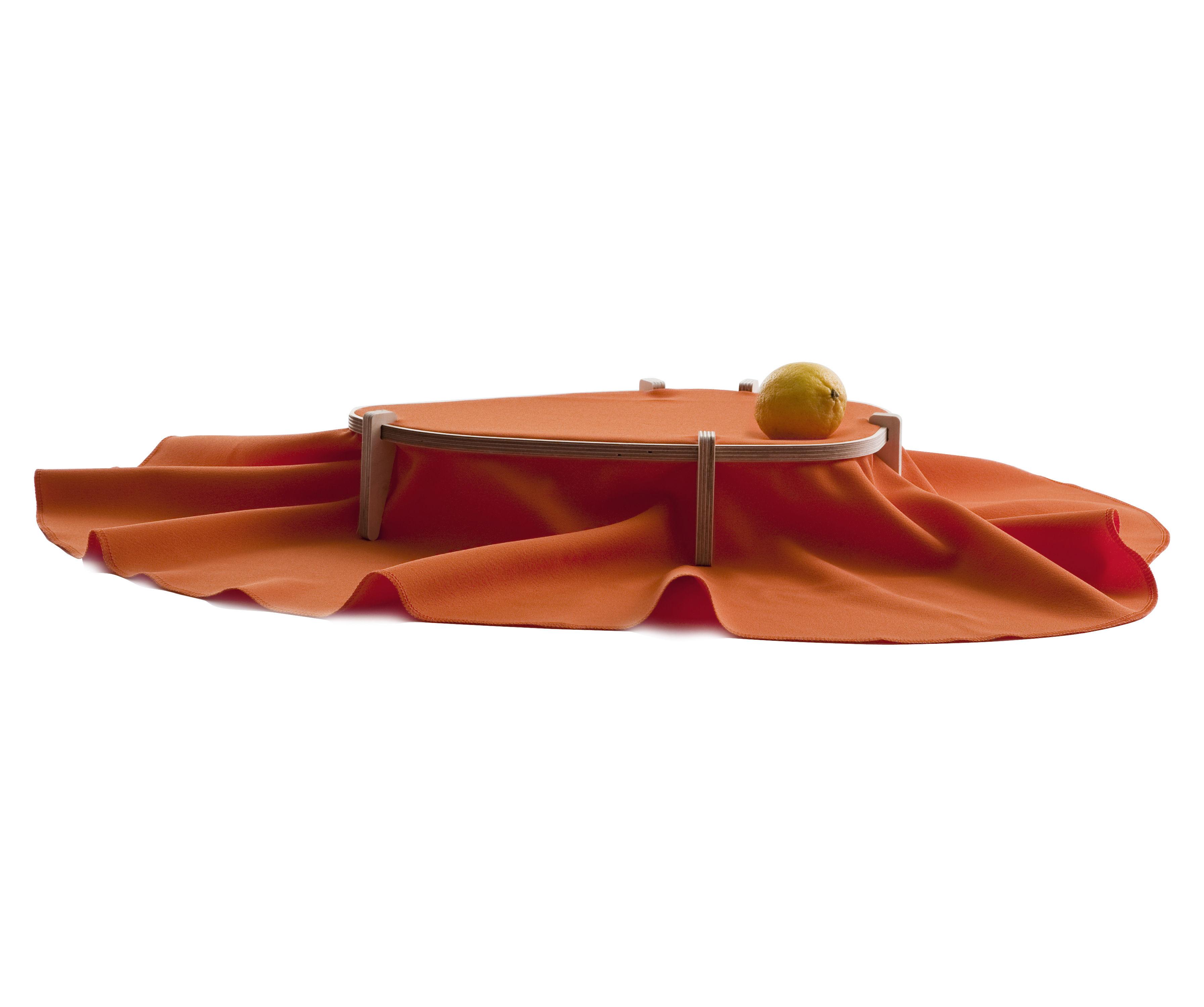 Tavola - Cesti, Fruttiere e Centrotavola - Centrotavola Dress - 65 x 35 cm - In tessuto di Moustache - Arancio mattone - Multistrato di betulla, Tessuto poliestere