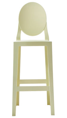 Chaise de bar One more / H 75cm - Plastique - Kartell jaune en matière plastique