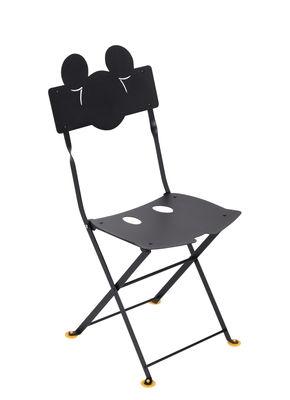 Mobilier - Mobilier Kids - Chaise pliante Bistro enfant Mickey / Métal - Fermob - Réglisse - Acier cataphorèsé