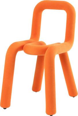 Chaise rembourrée Bold Tissu Moustache orange en tissu
