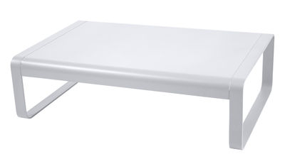 Furniture - Coffee Tables - Bellevie Coffee table - W 103 cm by Fermob - Cotton white - Lacquered aluminium
