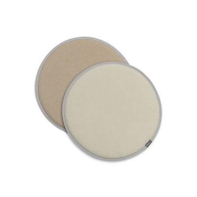 Image of Cuscino per seduta Seat Dots - / Ø 38 cm - Reversibile di Vitra - Bianco/Beige - Tessuto
