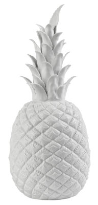 Décoration Pineapple Small / Ø 14 x H 32 cm - Porcelaine - Pols Potten blanc en céramique