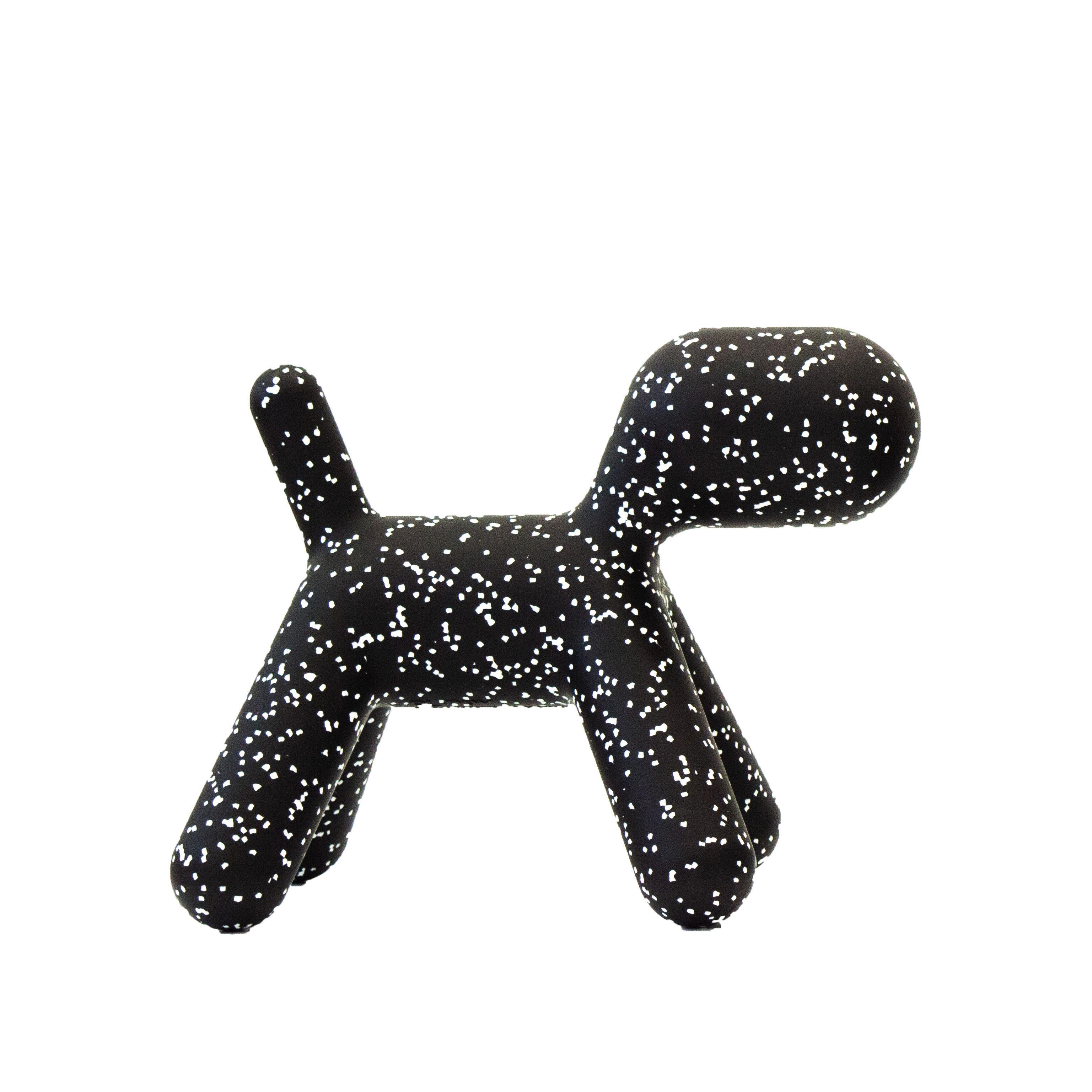 Mobilier - Mobilier Kids - Décoration Puppy Small / L 42 cm - Edition limitée Noël 2019 - Magis Collection Me Too - Noir / Tâches blanches - Polyéthylène rotomoulé
