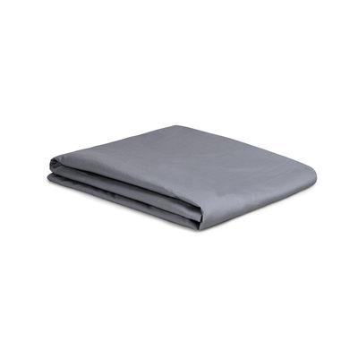 Drap plat 240 x 310 cm / Percale lavée - Au Printemps Paris gris en tissu