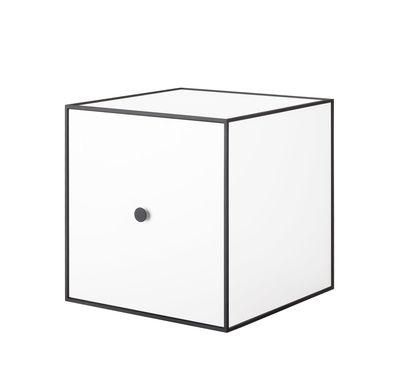 Etagère Frame Boîte 35x35 cm by Lassen blanc,noir en bois