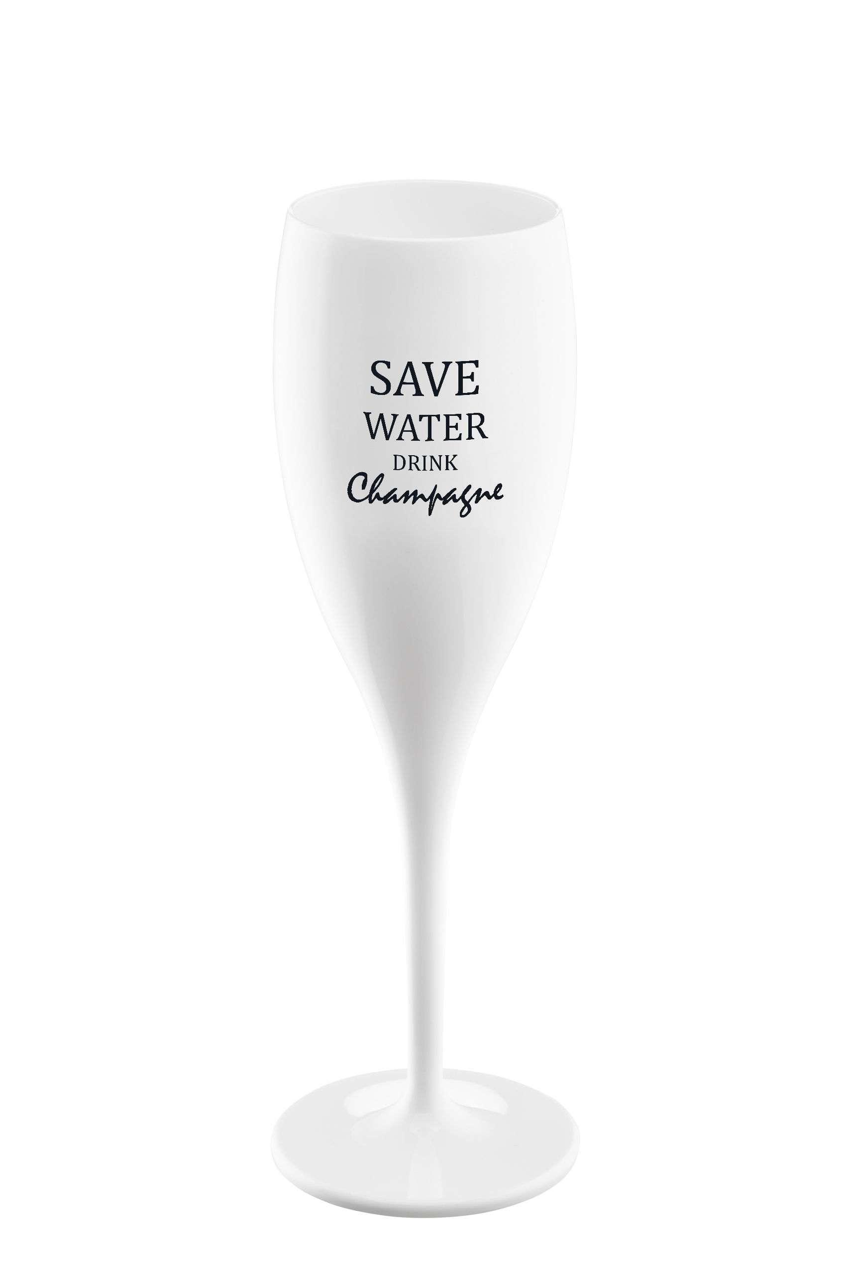 Arts de la table - Verres  - Flûte à champagne Cheers / Plastique - Save water - Koziol - Save water - Plastique Superglas