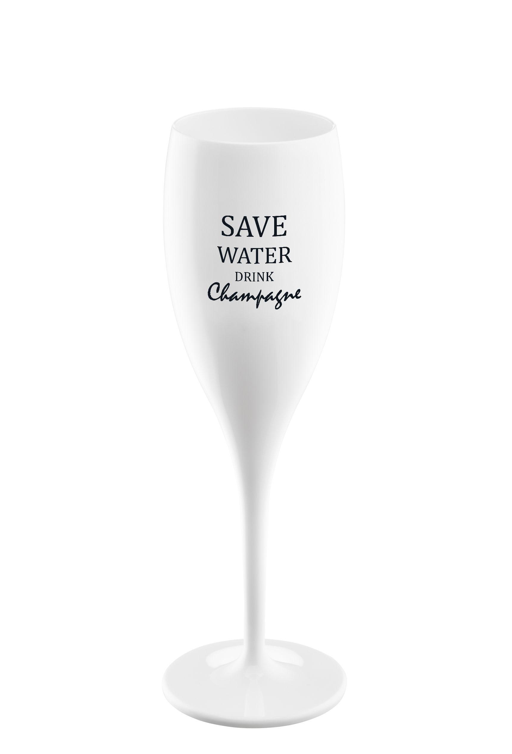 Tavola - Bicchieri  - Flûte da champagne Cheers - / Plastica - Save water di Koziol - Save water - Plastica Superglas