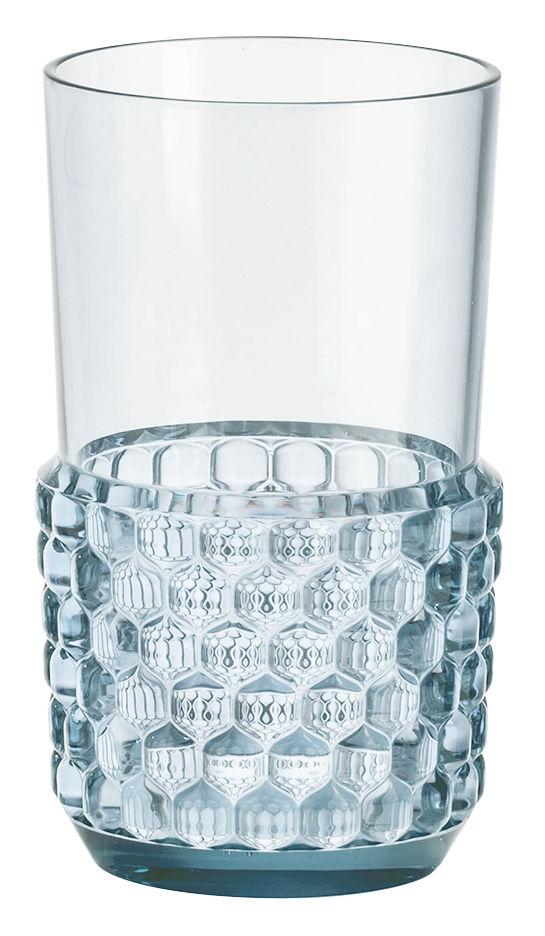Tischkultur - Gläser - Jellies Family Glas / Größe L - H 15 cm - Kartell - Himmelblau - PMMA
