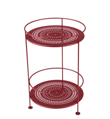 Guéridon Guinguette / Ø 40 x H 61 cm - Fermob rouge en métal