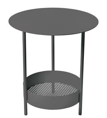 Guéridon Salsa / Ø 50 x H 50 cm - Fermob réglisse en métal