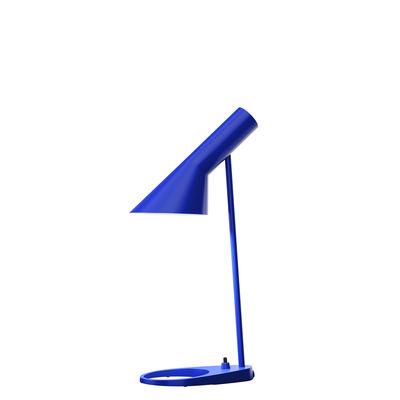 Illuminazione - Lampade da tavolo - Lampada da tavolo AJ Mini - (1960) / H 43 cm di Louis Poulsen - Blu Ultra - Acciaio, Zinco