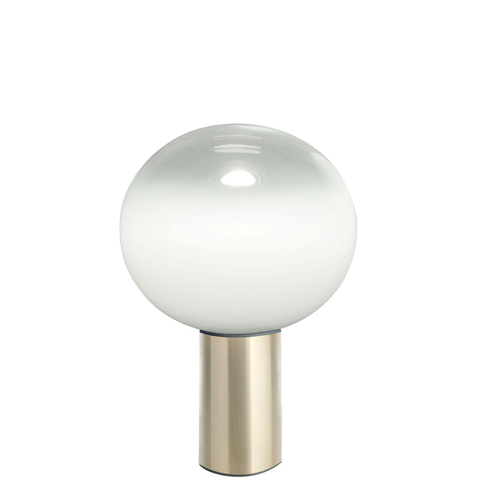Illuminazione - Lampade da tavolo - Lampada da tavolo Laguna - / Ø 26 x H 38 cm di Artemide - H 38 cm / Ottone - Alluminio, vetro soffiato