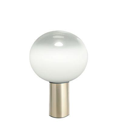 Luminaire - Lampes de table - Lampe de table Laguna / Ø 26 x H 38 cm - Artemide - Laiton - Aluminium, Verre soufflé