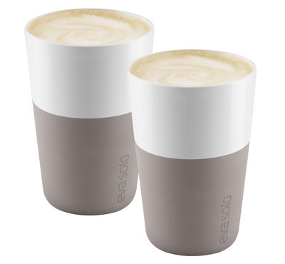 Mug Cafe Latte / Set de 2 - 360 ml - Eva Solo blanc,gris chaud en céramique