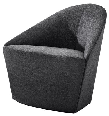 Furniture - Armchairs - Colina Small Padded armchair by Arper - Anthracite - Foam, Kvadrat fabric, Plywood