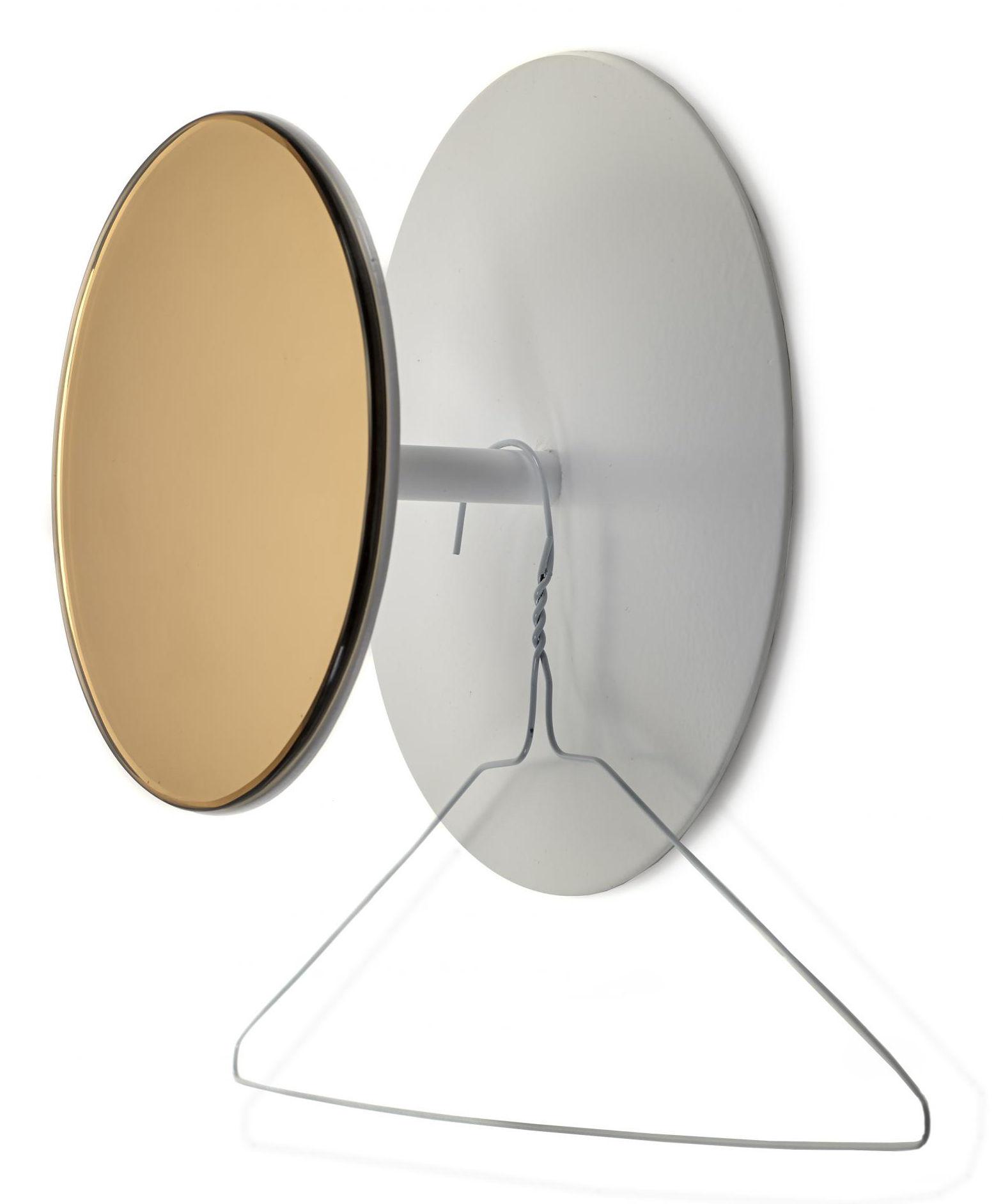 Mobilier - Portemanteaux, patères & portants - Patère Reflect / Miroir - Ø 25 cm - Serax - Blanc / Miroir cuivre - Métal, Verre fumé