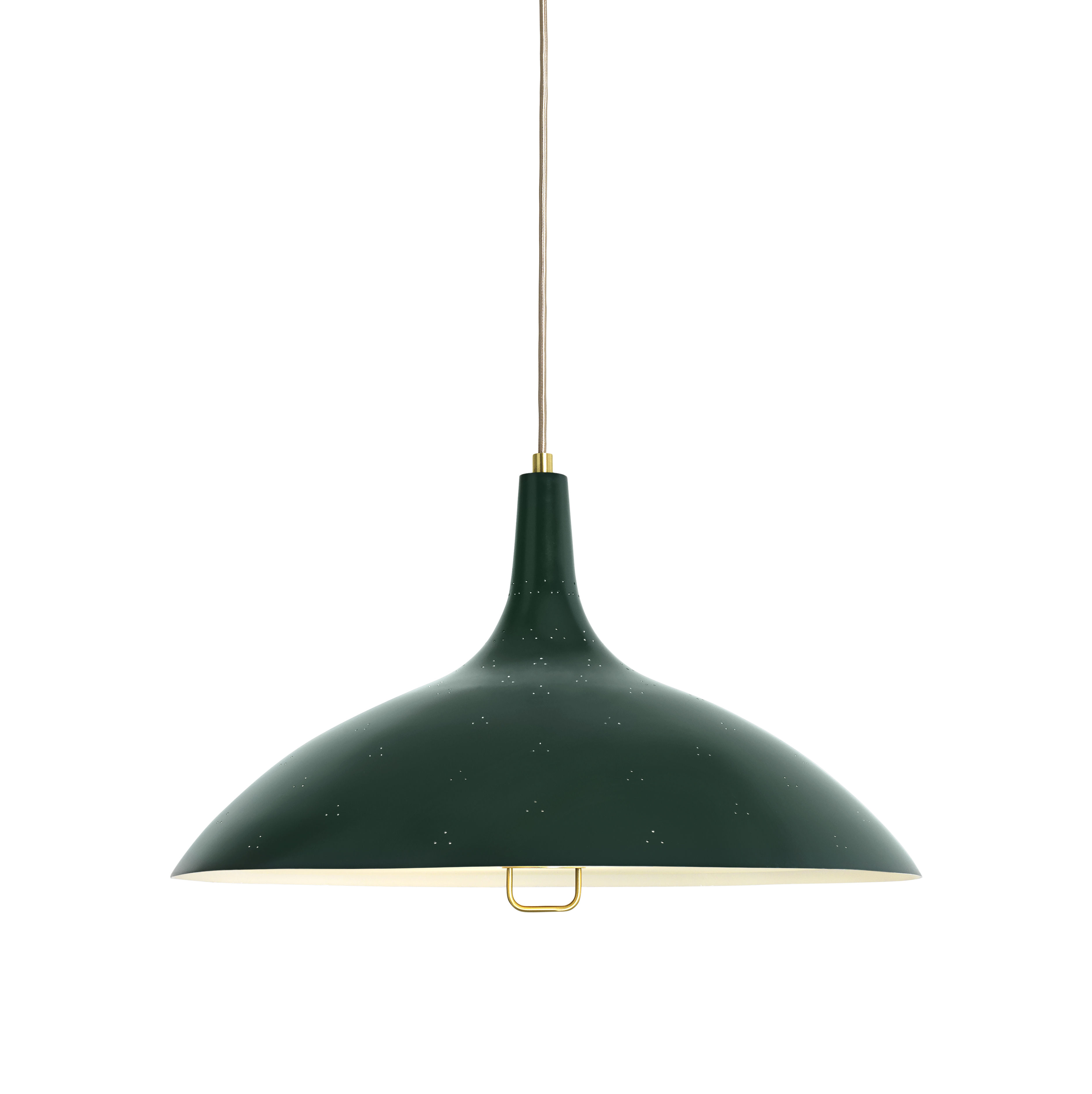 Lighting - Pendant Lighting - 1965 Pendant - / Ø 46 cm - 1947 reissue by Gubi - Green - Frosted glass, Painted brass