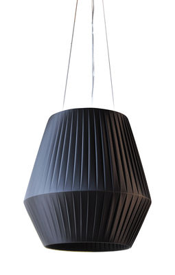 Lighting - Pendant Lighting - Ruban Pendant - Ø 45 cm by Dix Heures Dix - Black - Polyester fabric