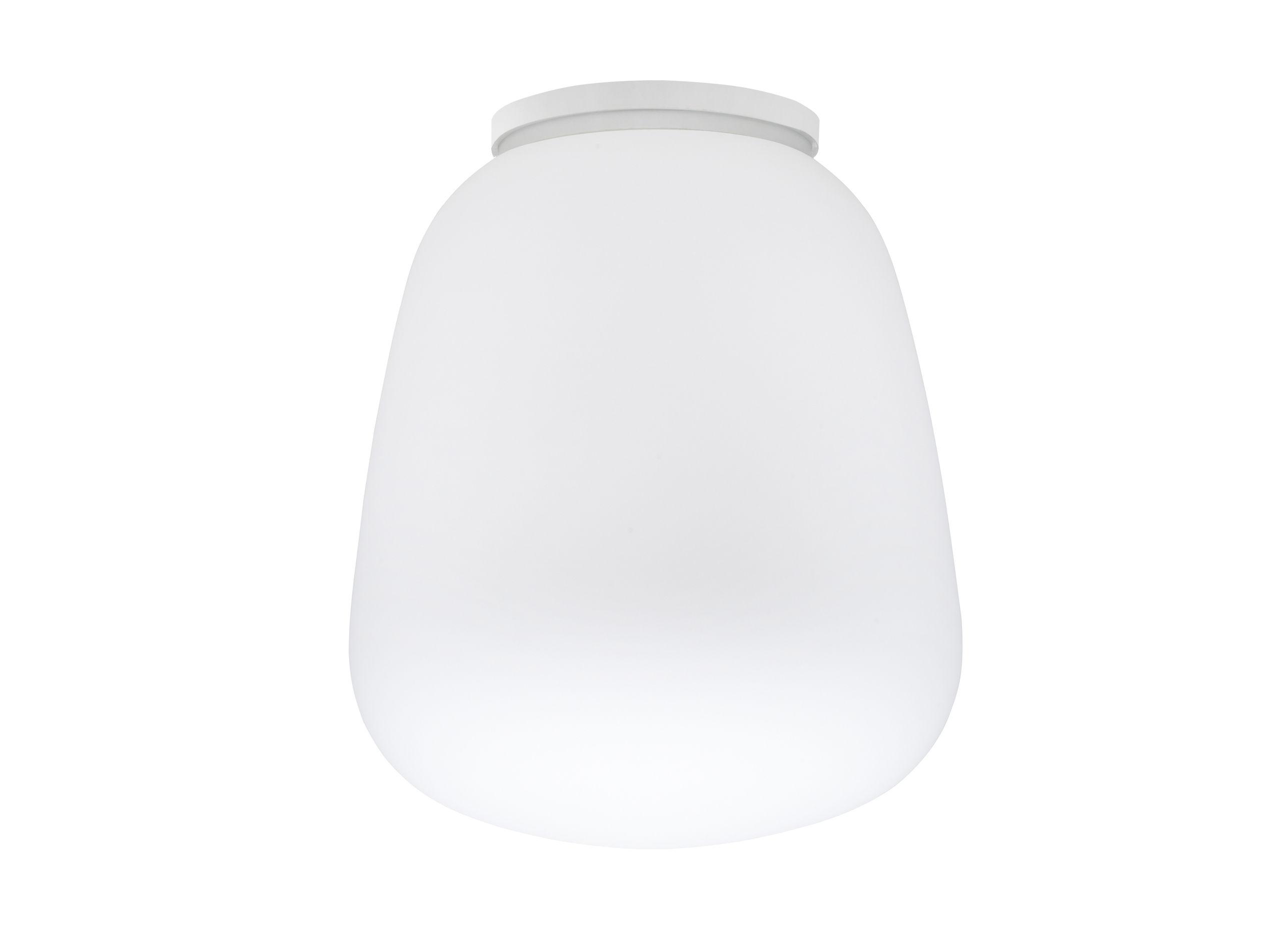 Illuminazione - Lampade da parete - Plafoniera Baka - / applique - Ø 33 cm di Fabbian - Bianco - Vetro
