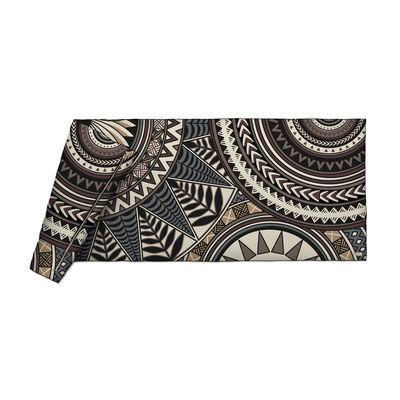 Decoration - Bedding & Bath Towels - Baba Souk Plaid - / Velvet - 85 x 200 cm by PÔDEVACHE - Pattern no. 1 / Brown, beige & blue - Fabric, Polyester, Velvet
