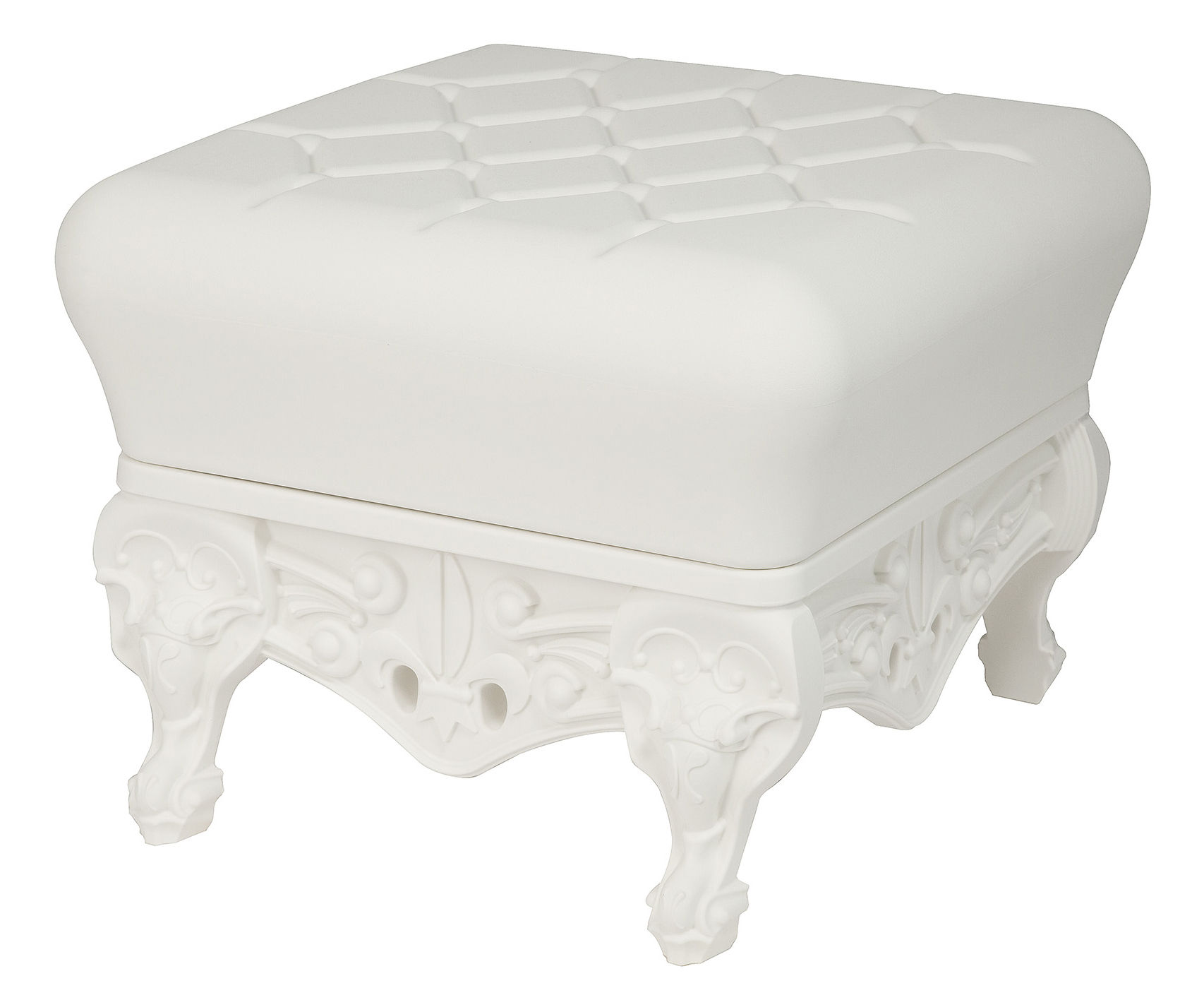 Furniture - Poufs & Floor Cushions - Little Prince of Love Pouf - Footrest by Design of Love by Slide - White - roto-moulded polyhene