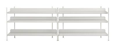 Arredamento - Scaffali e librerie - Mensola Compile / Metallo - L 245 x H 78 cm - Muuto - Grigio - Acciaio laccato