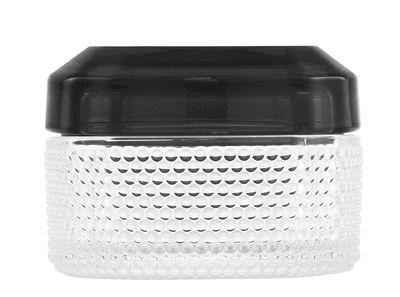 Dekoration - Schachteln und Boxen - Brilliant S Schachtel / L 8,6 cm x H 6 cm - Normann Copenhagen - Transparent / Deckel grau - Glas