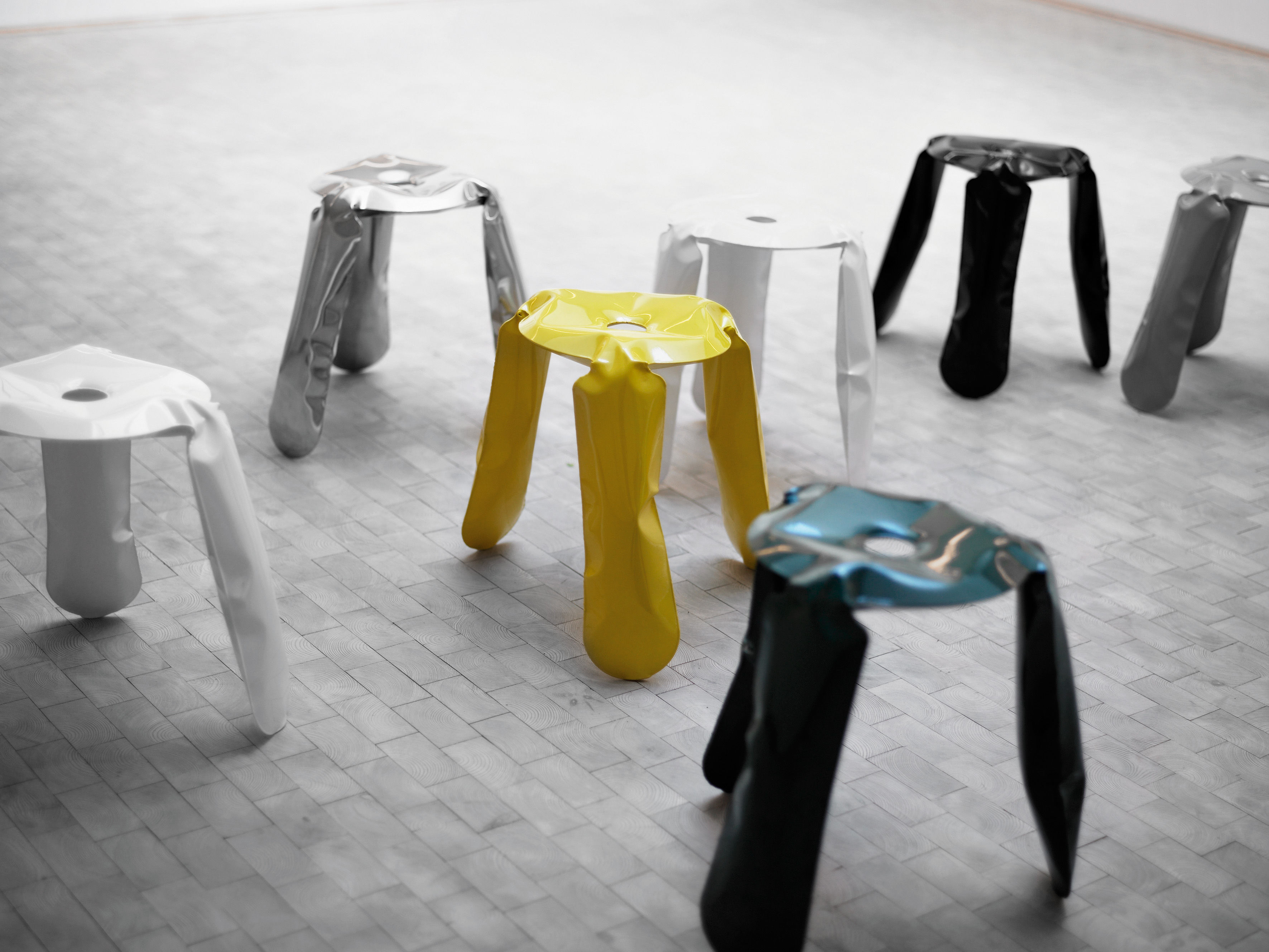 Plopp mini sgabello bimbi h 35 cm giallo by zieta made in design