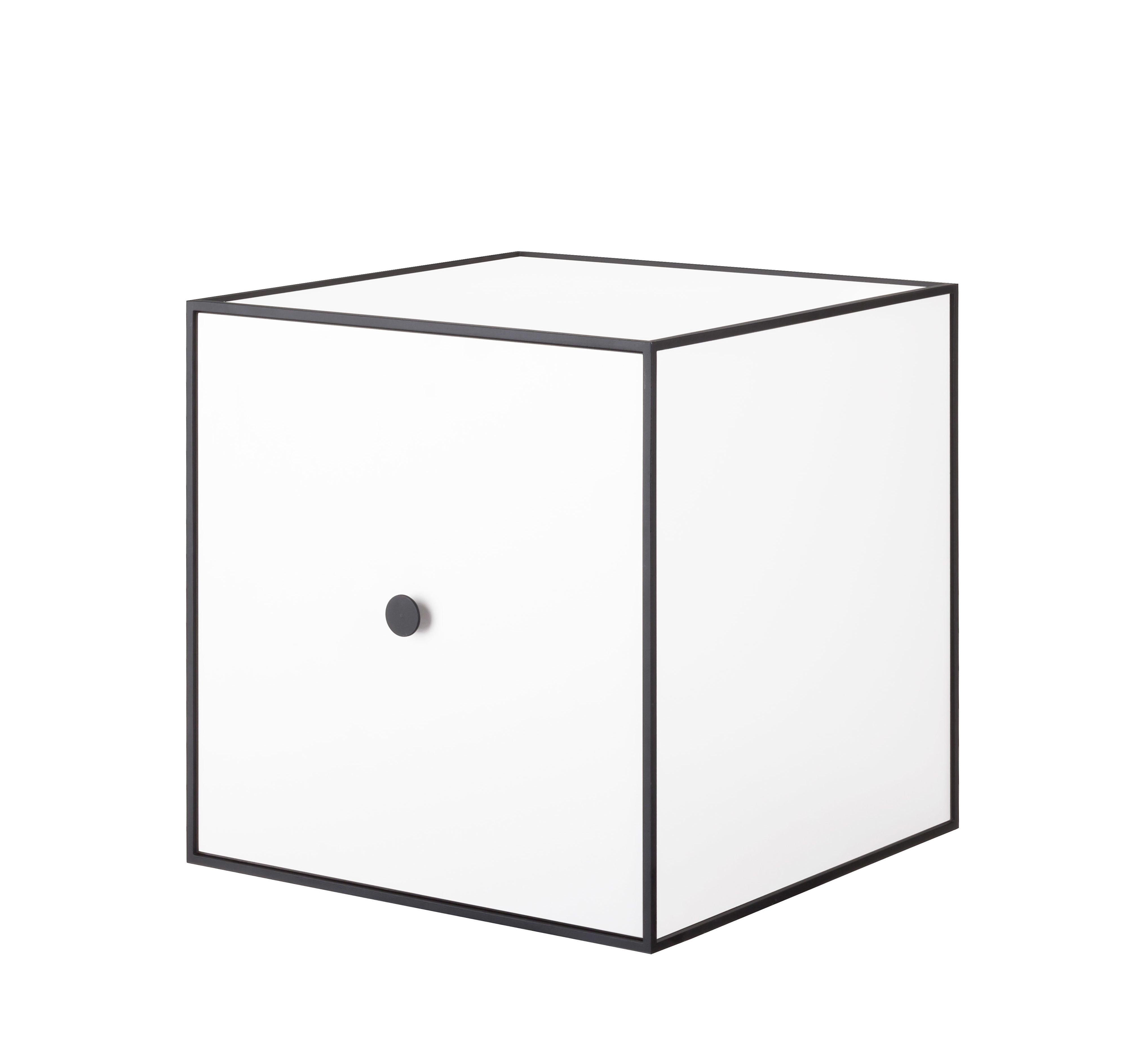 Frame Shelf With Door 35x35 Cm White By By Lassen Made In