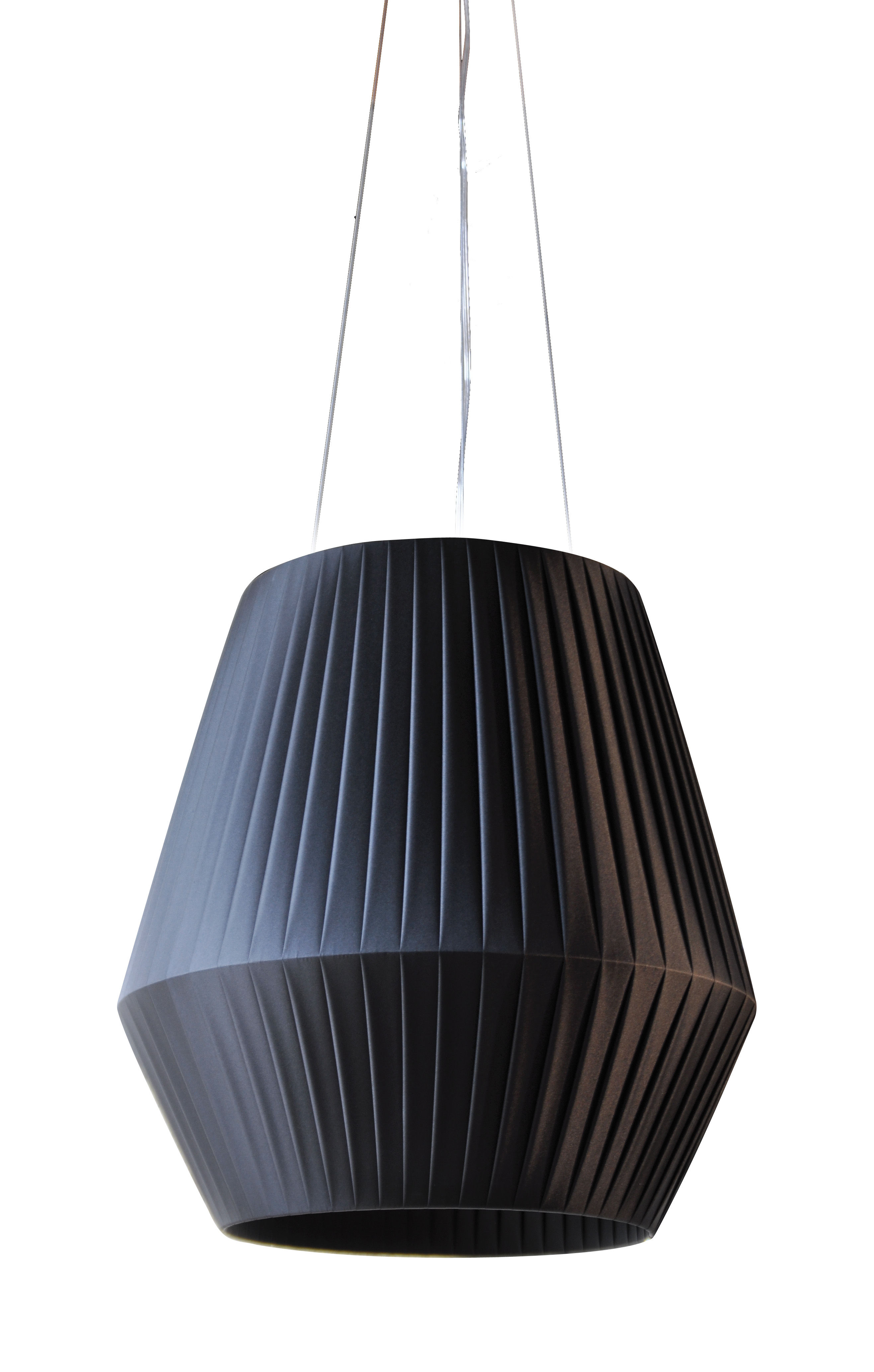 Illuminazione - Lampadari - Sospensione Ruban - Ø 45 cm di Dix Heures Dix - Nero - Tessuto poliestere
